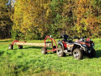 ATV  stock dumpare med Bakre stöddel och manual vinsch