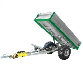 Hydraulisk tippvagn (600 kg lastkapacitet)