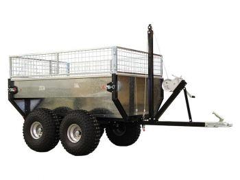 Boggievagn med tippfunktion - 1000 kg kapacitet