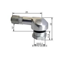 Aluminium däck ventiler ''8,5mm Silver
