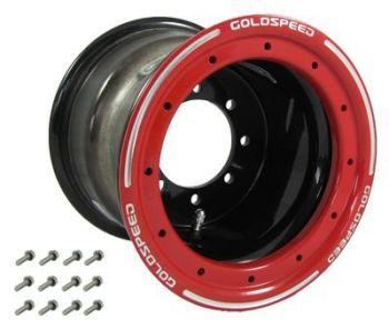GS: 10X8 4/110/115 3+5 B BEAD LOCK SVART - RÖD RING