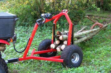 ATV timmerstocks dumper med elektrisk vinch utrusting