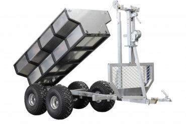 ATV timmervagn + lastbox + kran