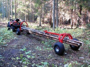 ATV  stock dumpare med Bakre stöddel och elektrisk vinsch