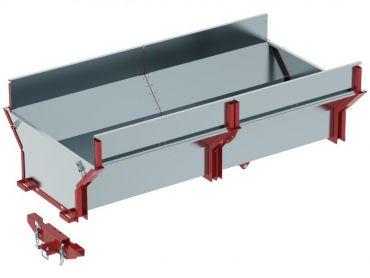 Cargo box för ATV timmer släpvagn