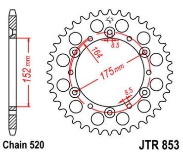 JT SPROCKETS Rear Sprocket 40 Teeth Yamaha