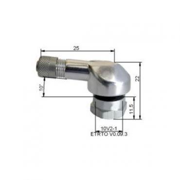 Aluminium däck ventiler  ''11,5mm Silver
