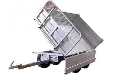 Tippvagn - 1500 kg kapacitet med 3-vägs lutningsalternativ