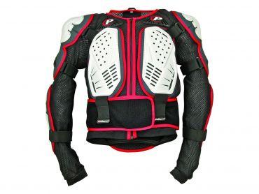 PoliSport vit/svart/röd inegrerat kropps skydd