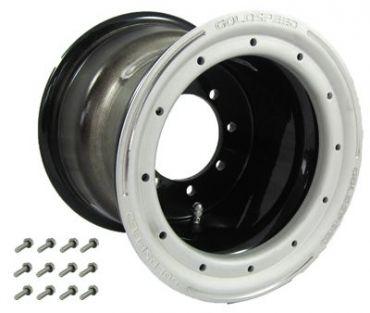 GS: 9X6 4/110/115 2B+4N 2X BL 2X BEAD LOCK SVART-SAND-SVART RING